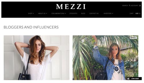 Mezzi Blogger Collaboration