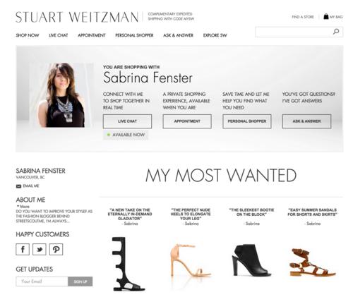 Stuart Weitzman blogger collaboration