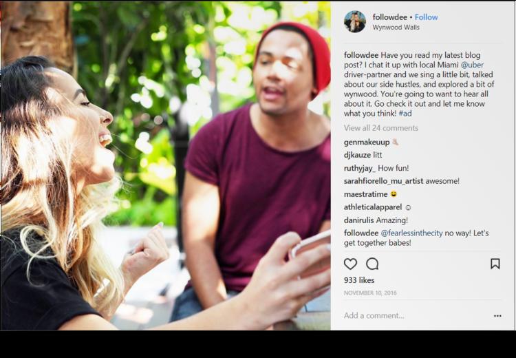 screenshot of Instagram post from @followdee singing