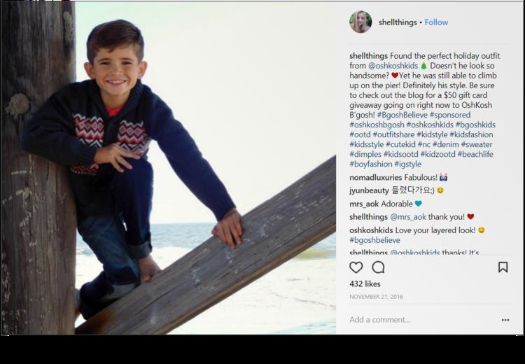 screenshot of Instagram post from @shellthings