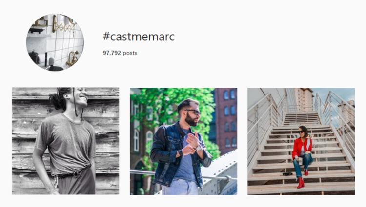 screenshot of Instagram hashtag archives for #castmemarc