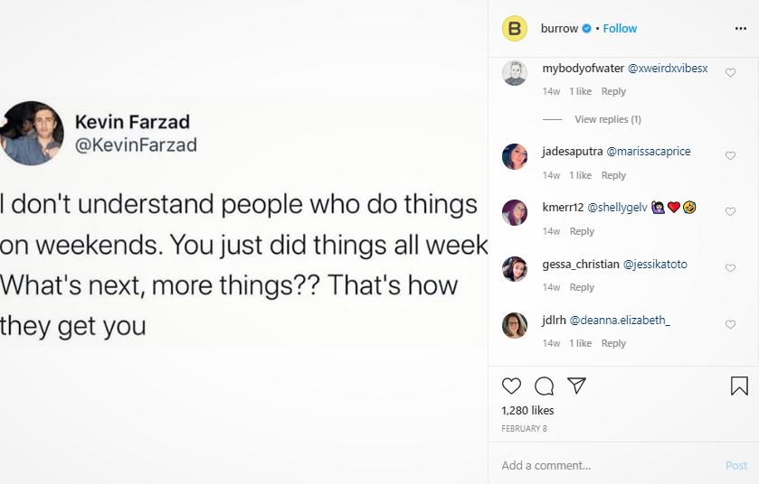 Instagram screenshot of a Kevin Farzad Tweet