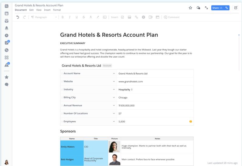 Screenshot of Quip Plans