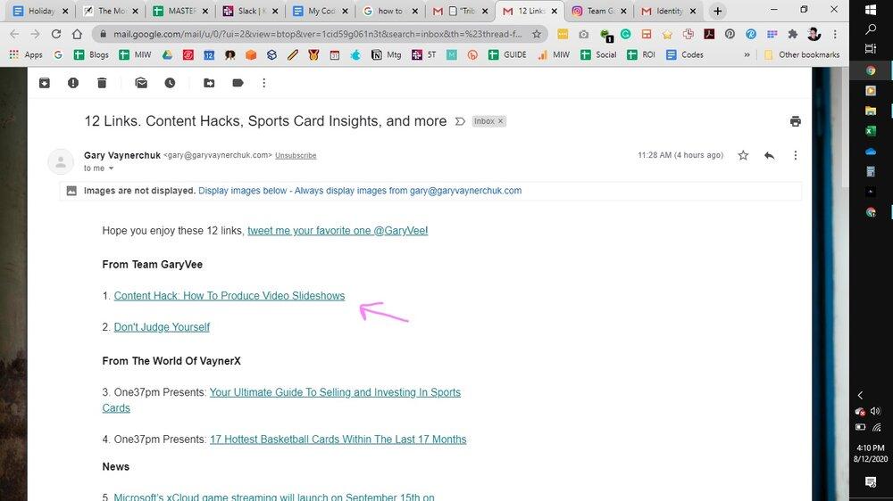 screenshot of email from Gary Vaynerchuk