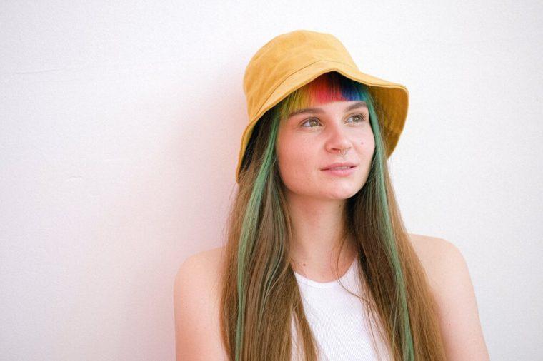 Pic of girl with colorful hair - fake ambassador programs