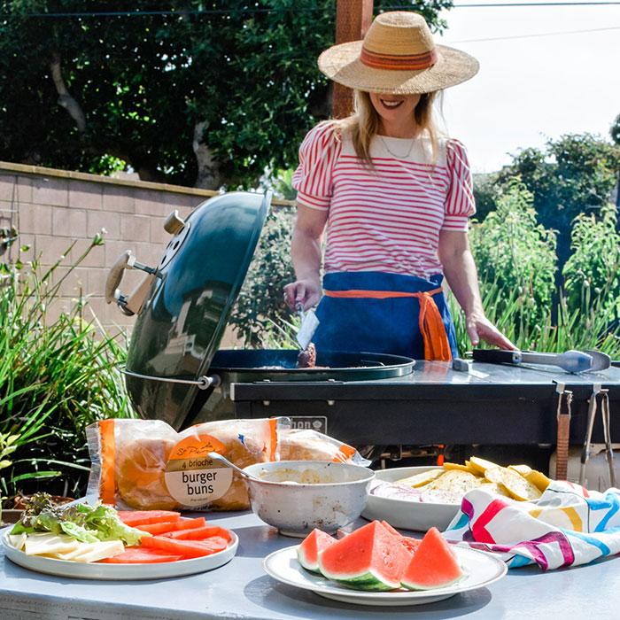 Backyard BBQ post from Kate Ramos of @holajalape for St. Pierre Baker