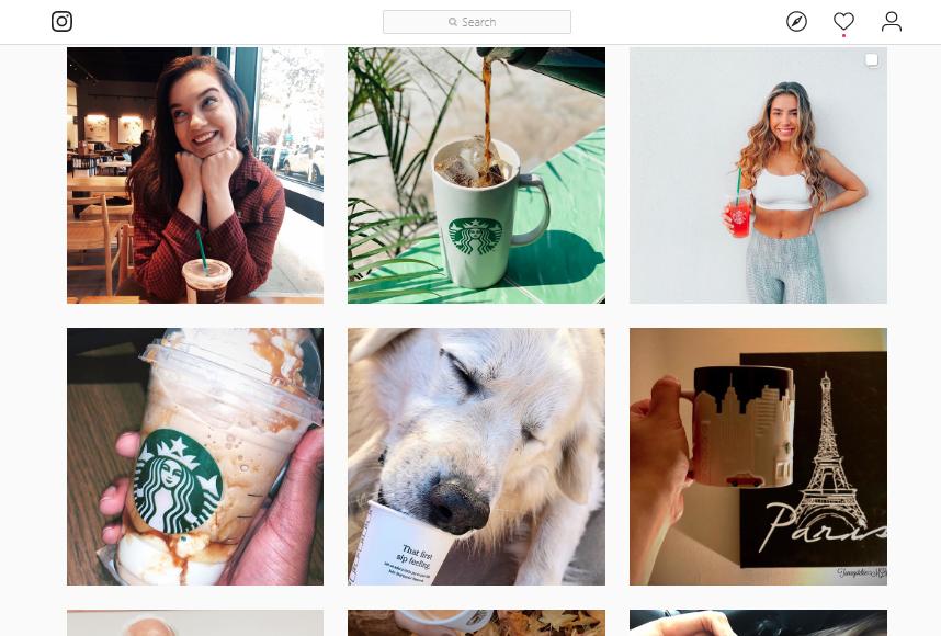 A screenshot of the posts on Starbucks's Instagram handle.
