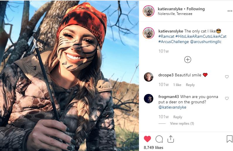 A screenshot of post from Katie Van Slyke' s Instagram handle.