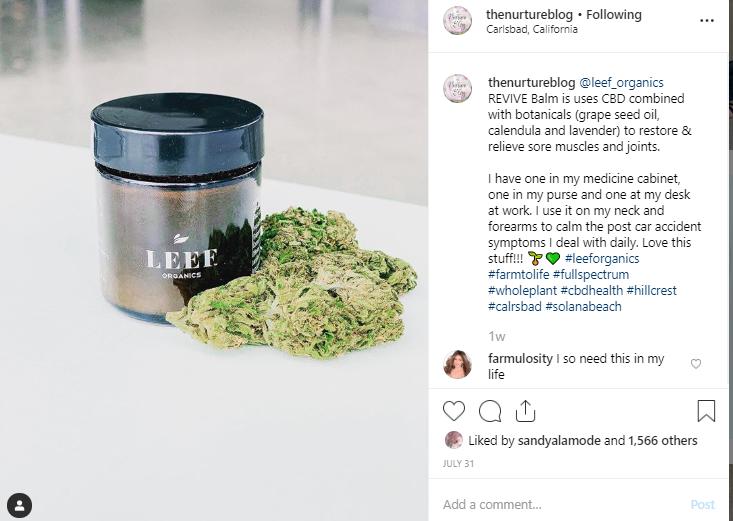 Screenshot of a post from @thenurtureblog on Instagram.