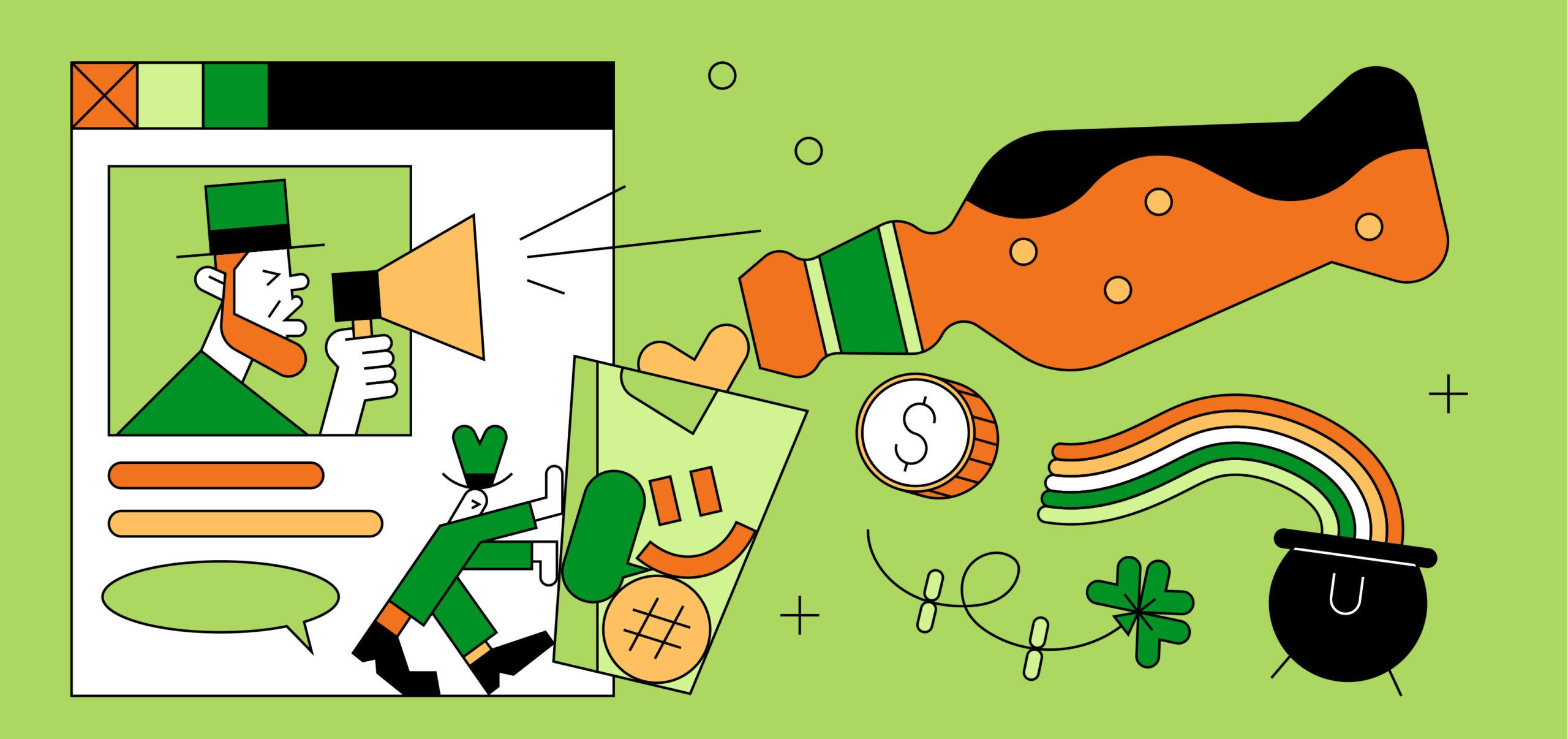 St. Patrick's Day themed illustration