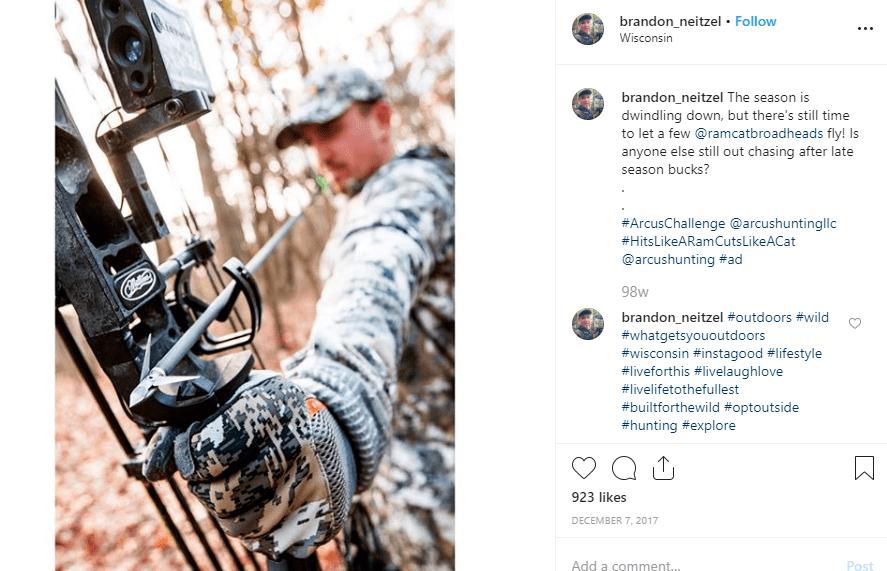 A screenshot of a post from Brandon Neitzel's Instagram handle.