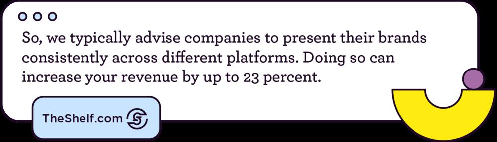 A tweet-like bubble on Brand Voice.