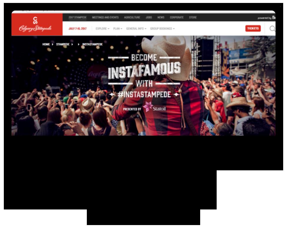 A screengrab of Calgary Stampede's website.