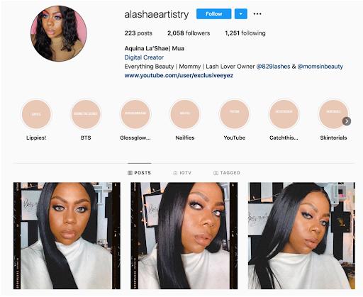mommy beauty blogger Aquina La'Shae @alashaeartistry