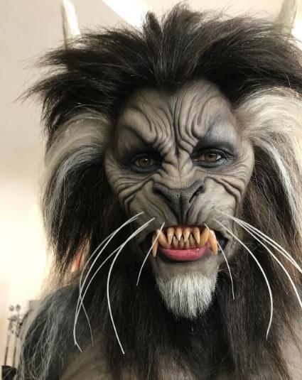 Post from @HEIDIKLUM of Werewolf costume on Instagram.