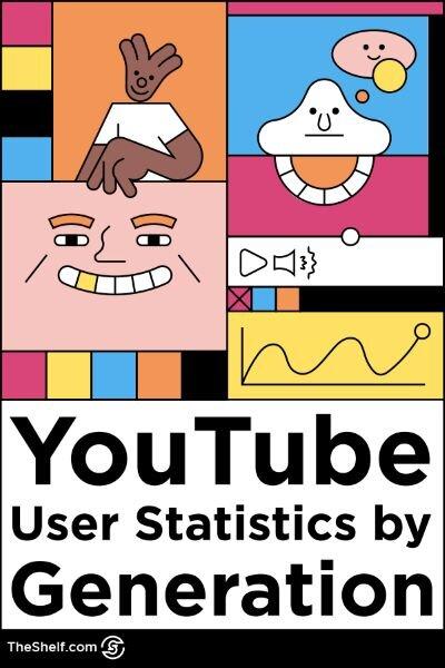 line illustration - youtube user statistics by generation