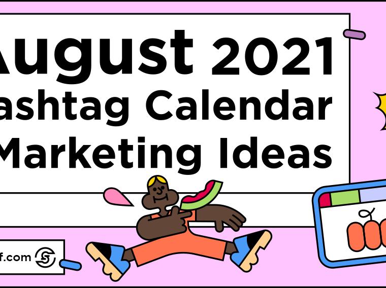 August Hashtag Calendar - title image